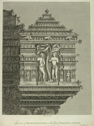 Specimen of Hindoo Sculpture on the Gate of Diamonds at Dhuboy